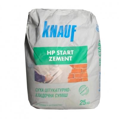 Смесь штукатурно-кладочная Knauf HP-Start Zement, 25 кг.