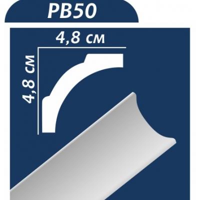 Потолочный плинтус PB50 ОМИС