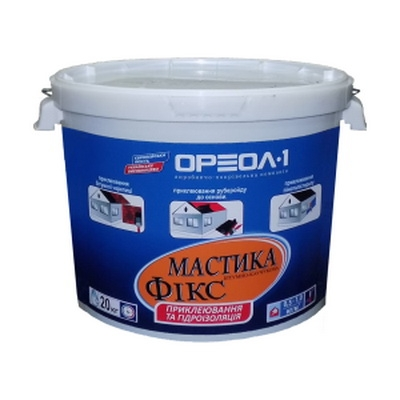 Мастика битумно-каучуковая клеящая Фикс, 20 кг.
