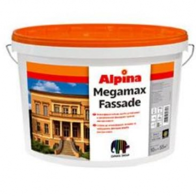 Фасадная краска Alpina Megamax Fassade, 10 л