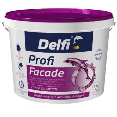 Краска латексная акриловая фасадная Profi Facade, DELFI