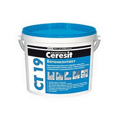 Грунтовка адгезионная Бетонконтакт Ceresit СТ 19, 15 кг.