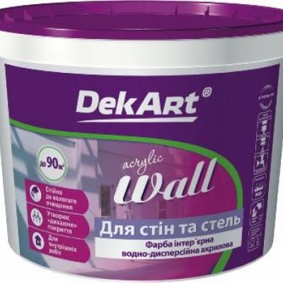 """Краска интерьерная """"Eco Interior""""  ТМ DEKART"""