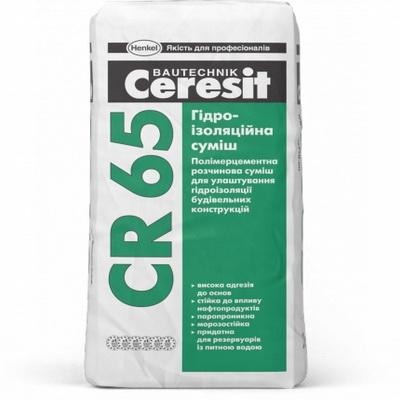 Смесь гидроизоляционная Ceresit CR 65, 25 кг.