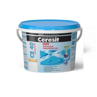 Смесь для затирки эластичный водостойкий цветной шов Ceresit CE 40 Aquastatic