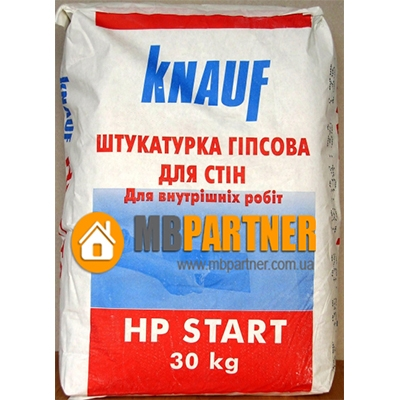 Гипсовая штукатурка KNAUF HP START, 30 кг.