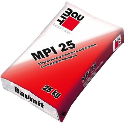 Штукатурка цементно-известковая Baumit MPI 25 для машинного нанесения, 25 кг