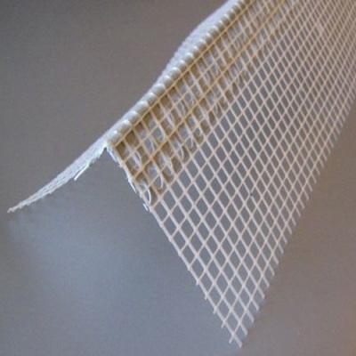 Профиль уголок алюминиевый перфорированный с сеткой, 2,5м