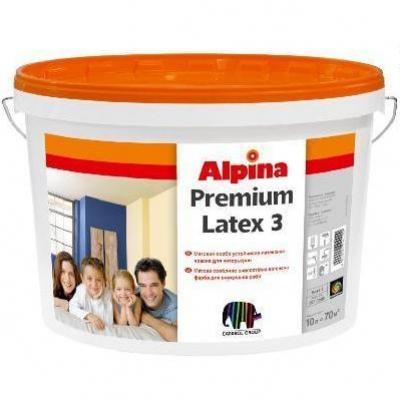 Краска Alpina PREMIUMLATEX 3, 10 л
