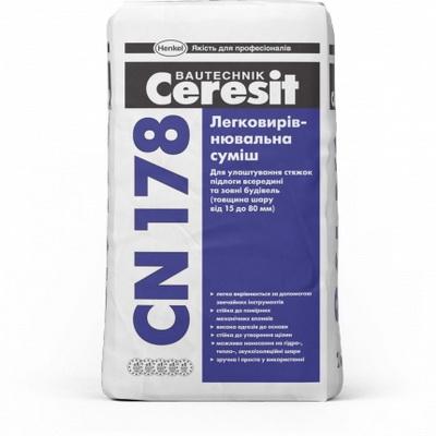 Cмесь легковыравнивающаяся Ceresit CN 178, 25 кг.