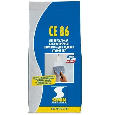 Высокопрочная шпаклевка для стыков SEMIN CE-86, 25 кг