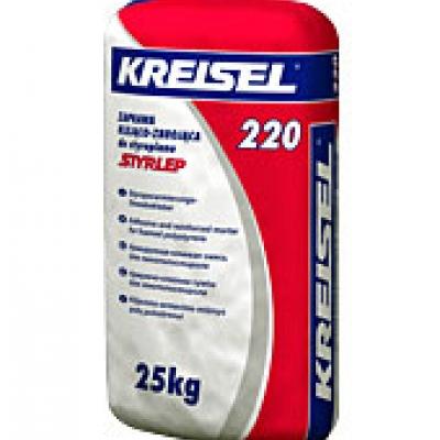 Клей для плит из пенополистирола STYRLEP 220, 25 кг