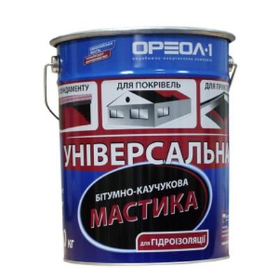 Мастика битумно-каучуковая Универсальная, 20 кг.