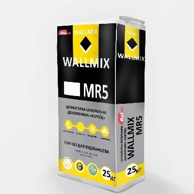 Штукатурка мінеральна декоративна Wallmix «Короїд» МR5, 25кг